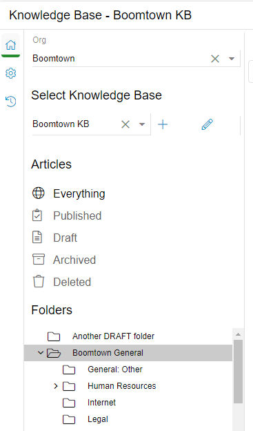 Relay Knowledge Base Left Nav